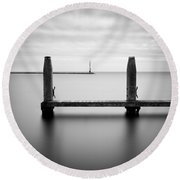 Beyond The Jetty Round Beach Towel