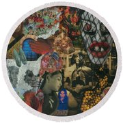 Beyond The Mask Round Beach Towel