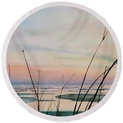 Beyond The Sand Round Beach Towel by Hanne Lore Koehler