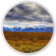 Beyond The Tundra Round Beach Towel
