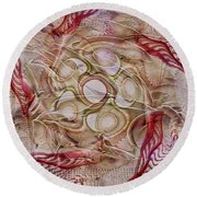 Beyond The Vale Round Beach Towel