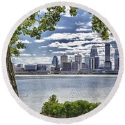 Beyond This Tree Round Beach Towel