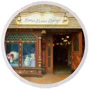 Bibbidi Bobbidi Boutique Fantasyland Disneyland Round Beach Towel