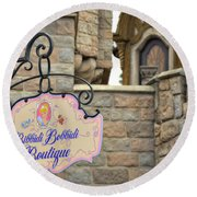 Bibbidi Bobbidi Boutique Round Beach Towel