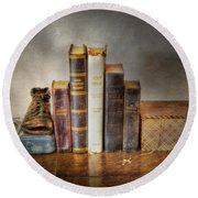Bibles And Hymnbooks Round Beach Towel by David and Carol Kelly