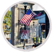 Biblion Used Books Reflections 2 - Lewes Delaware Round Beach Towel