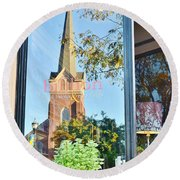 Biblion Used Books Reflections 3 - Lewes Delaware Round Beach Towel