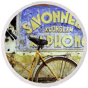 Bicycle 01 Round Beach Towel