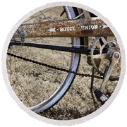Bicycle Gears Round Beach Towel