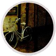 Bicycle Round Beach Towel