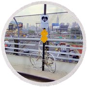 Bicycle Memorial Round Beach Towel