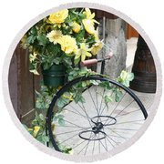 Bicycle Plant Holder Round Beach Towel