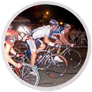 Bicycle Race By Jan Marvin Round Beach Towel