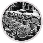 Bicycles - Velib Station - Paris Round Beach Towel