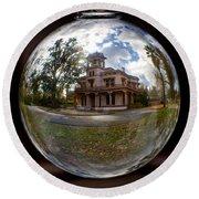 Bidwell Mansion Through A Glass Eye Round Beach Towel