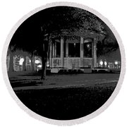 Bienville Square Grandstand Posterized Round Beach Towel