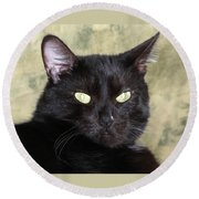 Big Bad Voodoo Kitty Round Beach Towel