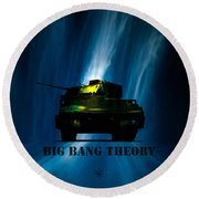 Big Bang Theory Round Beach Towel by Bob Orsillo