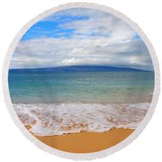 Big Beach Maui Round Beach Towel
