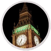 Big Ben Close Up Round Beach Towel