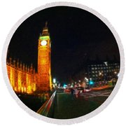 Big Ben - London Round Beach Towel