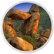 Big Bend Window Rock Round Beach Towel
