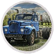 Big Blue Mack Round Beach Towel