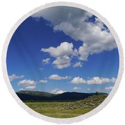Big Blue Sky  Round Beach Towel