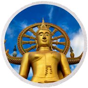 Big Buddha Round Beach Towel