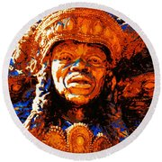 Big Chief Tootie Round Beach Towel