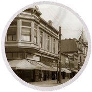 Big Curio Store Santa Cruz At 28 Pacific Avenue On The Corner Of Lincoln And Pacific. 1908 Round Beach Towel