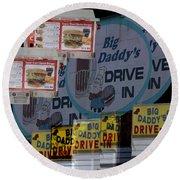 Big Daddy's Drive Inn Auburn Wa Round Beach Towel
