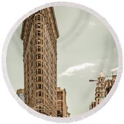 Big In The Big Apple Round Beach Towel by Hannes Cmarits