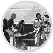 Big Jam At Day On The Green 1976 Round Beach Towel