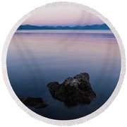 Big Lake Round Beach Towel