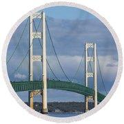 Big Mackinac Bridge 63 Round Beach Towel