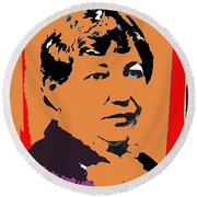 Big Nose Kate Unknown Location Or Date-2012 Round Beach Towel