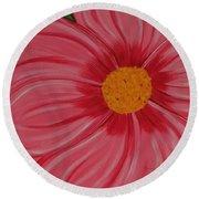 Big Pink Flower - Florist - Gardener Round Beach Towel