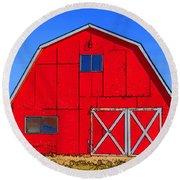 Big Red Barn Round Beach Towel