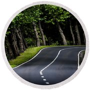 Big  Road Round Beach Towel