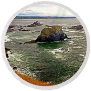 Big Rock Beach Round Beach Towel