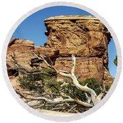 Big Spring Canyon Overlook Round Beach Towel