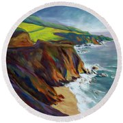Big Sur 1 Round Beach Towel