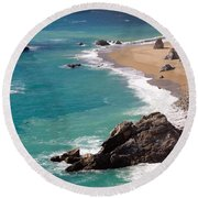 Big Sur Coast Round Beach Towel