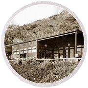 Big Sur Hot Springs Now The Esalen Institute California Circa 1961 Round Beach Towel