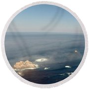 Big Sur Panorama Round Beach Towel
