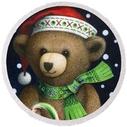 Big Teddy Round Beach Towel