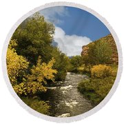 Big Thompson River 2 Round Beach Towel