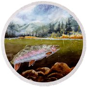 Big Thompson Trout Round Beach Towel