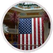 Big Usa Flag 1 Round Beach Towel